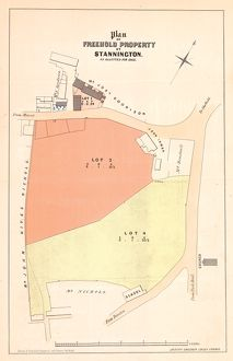 Plan of The Crown and Glove Public house and other land and property at Stannington