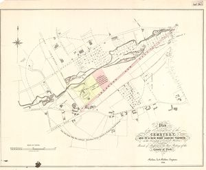 Plan of an enlargement of the [General] Cemetery and of a new road leading thereto