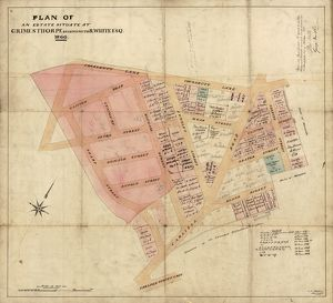 Plan of an Estate situate at Grimesthorpe belonging to Robert White esquire, 1866