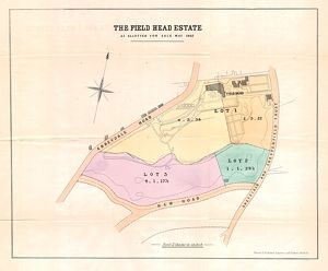 Plan of the Field head Estate for sale by auction, 1862