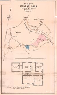 Plan of freehold country residence and farm at Norton Lees for sale, 1863