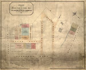 Plan of Freehold Estate at Crookes Moor [Crookesmoor] belonging to the executors