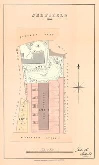 Plan of freehold estates at Glossop Road and Wilkinson Street, for sale by auction, 1860