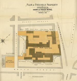 Plan of Freehold Property in Sheffield known as Roscoe Works as advertised for Sale by Auction