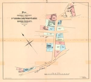 Plan of freehold property situate on the 2nd Ecclesall Land Society's Estate at Upper Heeley