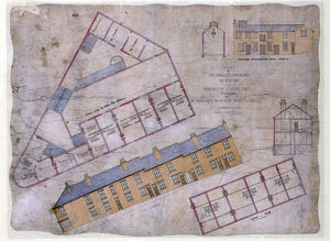 buildings streets/plan houses shop slaughterhouse built johnson
