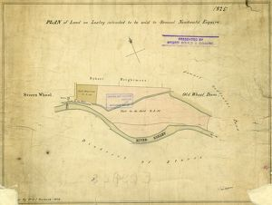 Plan of land at Loxley intended to be sold to Samuel Newbould (part between Old Wheel Dam