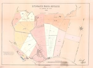 Plan of Lydgate Hall Estate as allotted for sale, 1860