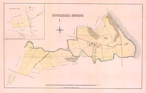 Plan of the Moorhall Estate to be sold by auction, 1861