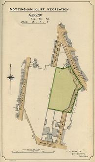 Plan of Nottingham Cliff Recreation Ground, 1897