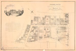 Plan of Park Gate, near Highfield in Ecclesall Bierlow (laid out in building plots)