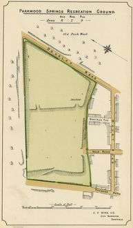Plan of Parkwood Springs Recreation Ground, 1897