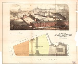 Plan and perspective of B Vickers and Co