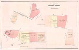 Plan of property at Handsworth Woodhouse, allotted for sale, 1865