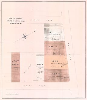 Plan of property at Nether Edge for sale, 1866