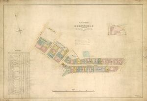 Plan of the property in Sheffield belonging to the Trustees of Hollis' Hospital, 1855