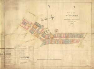 Plan of the property in Sheffield belonging to the Trustees of Hollis' Hospital