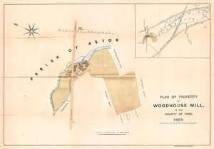 Plan of property at Woodhouse Mill, 1865