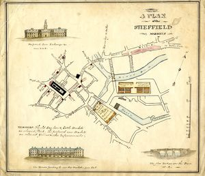 Plan of the Sheffield Markets, [c.1826]