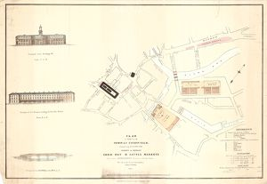 Plan of part of the town of Sheffield comprising the site of the present and proposed Corn