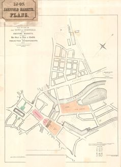 Plan of part of the Town of Sheffield shewing the existing markets, the property