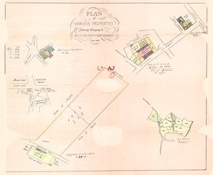 Plan of various properties formerly belonging to William Staniforth, esquire, deceased