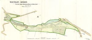 Plan of Whiteley Woods (Part 2) -Whiteley Woods (Part 2) - section from Oakbrook Road to Dead Lane