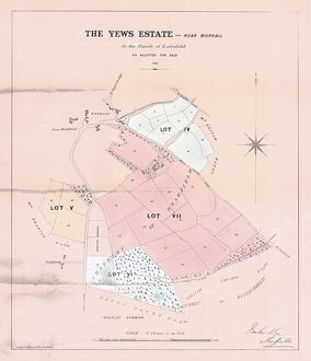 Plan of the Yews Estate, near Worrall, for sale by auction, 1862