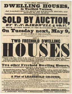 posters/poster announcing sale auction dwelling houses