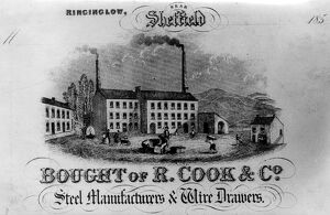 Bought of R. Cook and Co., Steel Manufacturers and Wire Drawers, Ringinglow