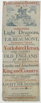 posters/recruiting poster yorkshire light dragoons napoleonic