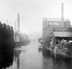 River Don from Lady's Bridge before the First World War. Tennant Brothers Ltd
