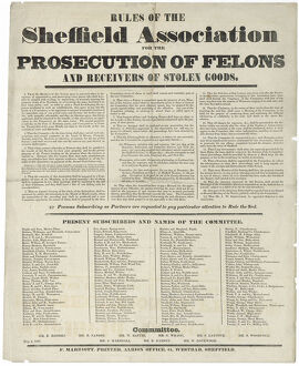 posters/rules sheffield association prosecution felons