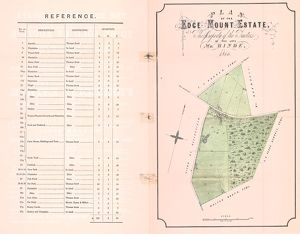 Sale particulars for the Edge Mount Estate, near Bradfield, to be sold by auction, 1866