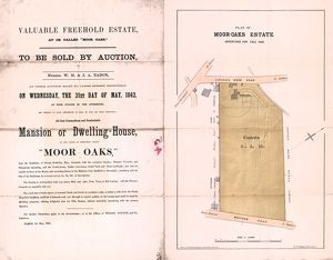 Sale particulars and plan of Moor Oaks Estate, 1862