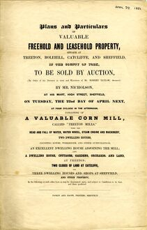 Sale particulars for property at Treeton, Bolehill, Catcliffe and Sheffield, 1851