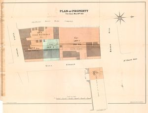 Sale plan for property fronting to Broad Land and Upper Gell Street, 1867