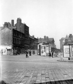 Holly Street from Barkers Pool, before construction of City Hall, right, premises