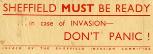 Sheffield Invasion Committee: Sheffield must be ready... in case of invasion - Don't Panic