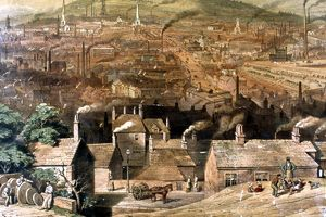 South East View of Sheffield from Park Hill, by William Ibbitt, 1855