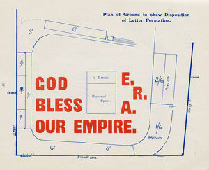 Sheffield Schools Empire Day Pageant, Bramall Lane, 1907 - plan of ground showing