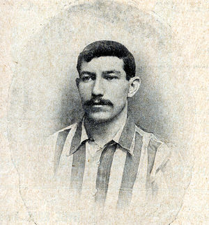 Sheffield United Football Club Captain, Ernest Needham, 1899