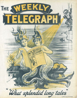 posters/newspaper posters/sheffield weekly telegraph poster splendid long tales