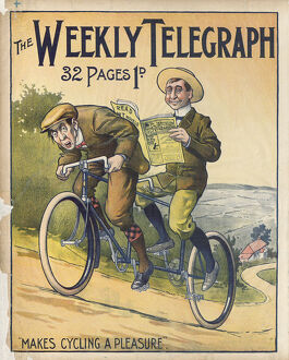 posters/newspaper posters/sheffield weekly telegraph poster makes cycling