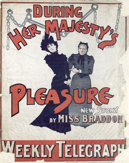 posters/newspaper posters/sheffield weekly telegraph poster majestys pleasure