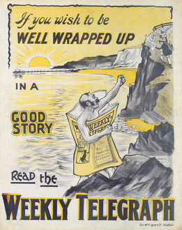 posters/newspaper posters/sheffield weekly telegraph poster wish wrapped
