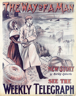 posters/newspaper posters/sheffield weekly telegraph poster way man new