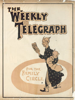 posters/newspaper posters/sheffield weekly telegraph poster family circle