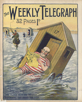 posters/newspaper posters/sheffield weekly telegraph poster time tide