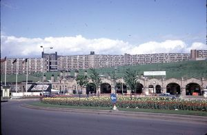 Midland Station, Sheaf Square, looking towards Hyde Park Flats 19684